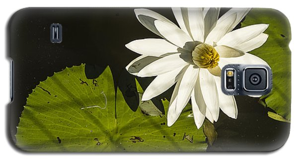 Galaxy S5 Case featuring the photograph Waterlily Through A Fence by Terry Rowe