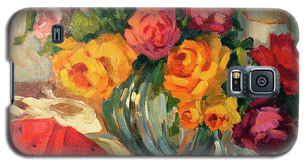 Watermelon And Roses Galaxy S5 Case by Diane McClary