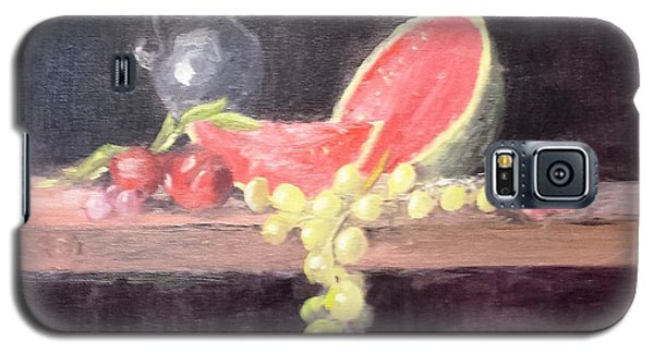 Watermelon Plums And Grapes Galaxy S5 Case