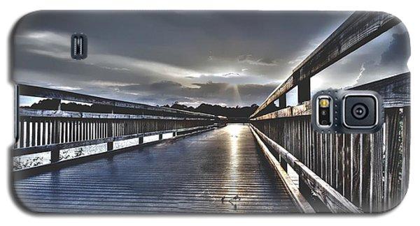 Watson Bayou Pier Hdr Galaxy S5 Case by Debra Forand