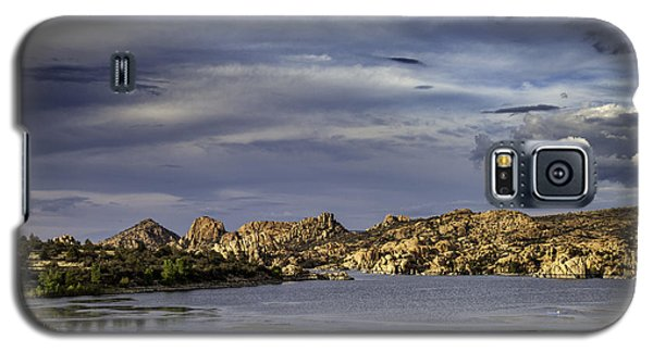 Galaxy S5 Case featuring the photograph Watson Lake by James Bethanis