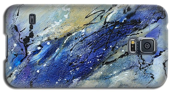Galaxy S5 Case featuring the painting Wave - Abstract Art by Ismeta Gruenwald