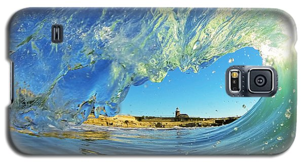 Wave And Lighthouse 1 Galaxy S5 Case by Paul Topp