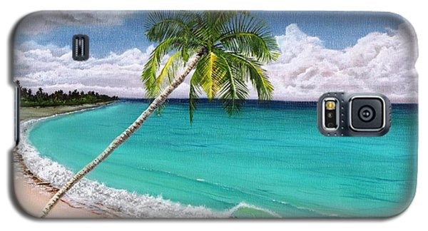 Wave Break Beach Galaxy S5 Case by Kevin F Heuman