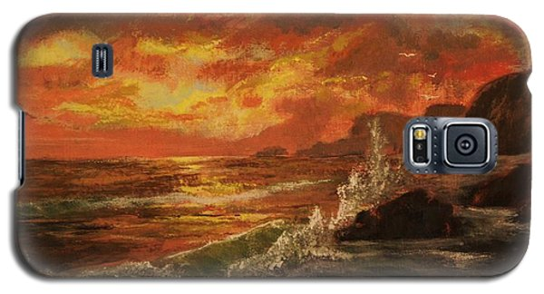 Galaxy S5 Case featuring the painting Wave Crash by Vanessa Palomino