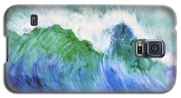 Galaxy S5 Case featuring the painting Wave Dream by Joan Hartenstein