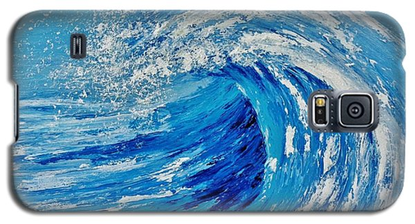 Galaxy S5 Case featuring the painting Wave by Katherine Young-Beck