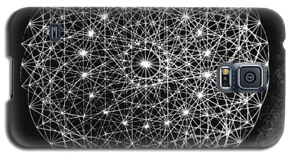 Galaxy S5 Case featuring the drawing Wave Particle Duality Black White by Jason Padgett