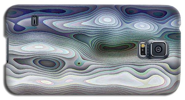 Abstract Waves 15 Galaxy S5 Case by Walt Foegelle