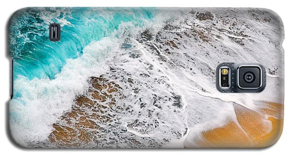 Waves Abstract Galaxy S5 Case by Silvia Ganora