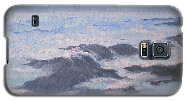 Galaxy S5 Case featuring the painting Waves And Rocks by Suzanne McKay