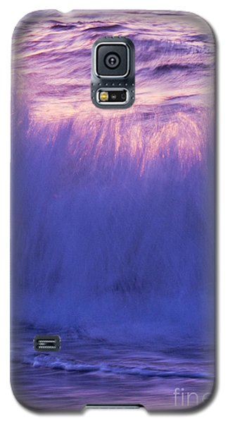 Galaxy S5 Case featuring the photograph Waves At Sunset by Serene Maisey