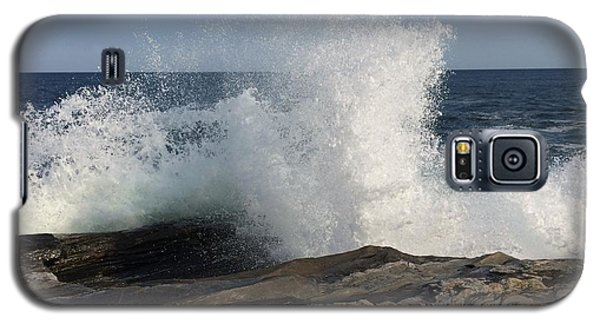 Waves Crashing On Rocky Maine Coast Galaxy S5 Case