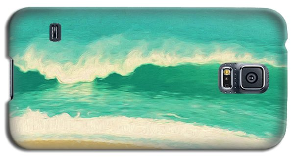 Galaxy S5 Case featuring the painting Waves by Douglas MooreZart