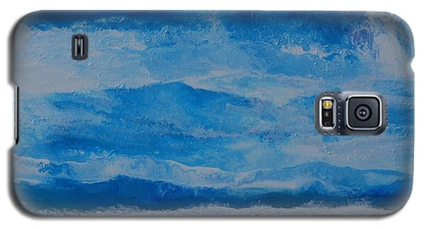 Galaxy S5 Case featuring the painting Waves by Linda Bailey