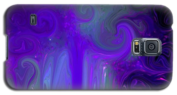 Waves Of Violet - Abstract Galaxy S5 Case by Susan Carella