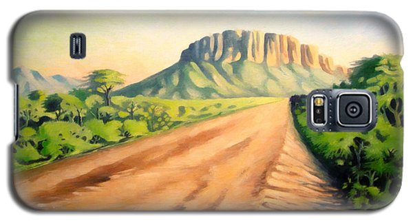 Galaxy S5 Case featuring the painting Way To Maralal by Anthony Mwangi