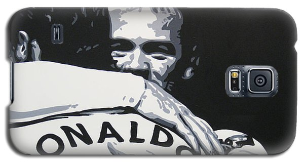 Wayne Rooney And Ronaldo - Manchester United Fc Galaxy S5 Case by Geo Thomson