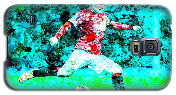 Wayne Rooney Splats Galaxy S5 Case by Brian Reaves