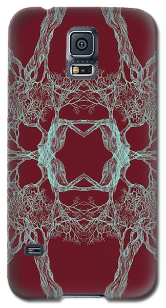 We Are All Made Of Stars Tree 12 Hybrid 1 Red Galaxy S5 Case