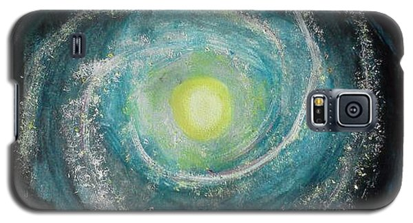 Galaxy S5 Case featuring the painting We Are Here by Carol Duarte