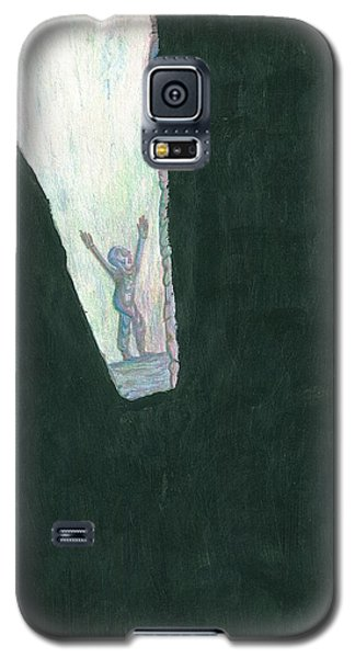 Galaxy S5 Case featuring the drawing We Are Not Omnipotent by Giuseppe Epifani