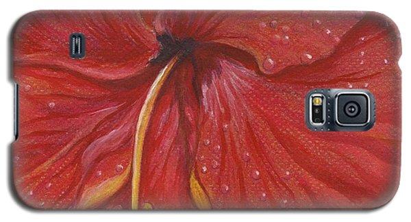 Galaxy S5 Case featuring the painting We Have Had Rain by Carol Wisniewski