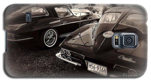 Galaxy S5 Case featuring the digital art We Love Corvettes  by Delona Seserman
