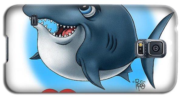 Galaxy S5 Case featuring the digital art We Love Tourists Shark by Scott Ross
