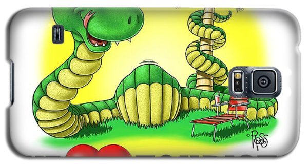 Galaxy S5 Case featuring the digital art We Love Tourists Snake by Scott Ross