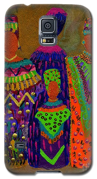 Galaxy S5 Case featuring the painting We Women 4 by Angela L Walker