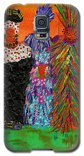 Galaxy S5 Case featuring the painting We Women Folk by Angela L Walker