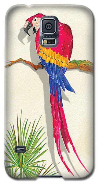 Galaxy S5 Case featuring the painting Wearing Red by Anne Beverley-Stamps