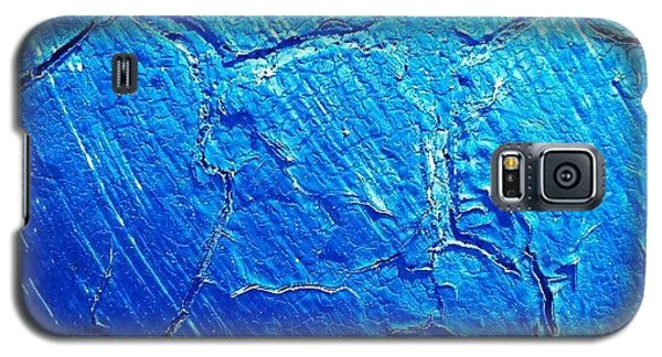 Blue Galaxy S5 Case - Weathered In Blue by CML Brown