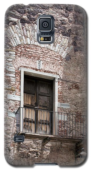 Galaxy S5 Case featuring the photograph Weathered Wooden Church Doors by Lynn Palmer