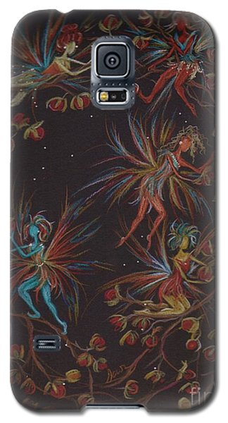 Galaxy S5 Case featuring the drawing Weaving The Bittersweet by Dawn Fairies