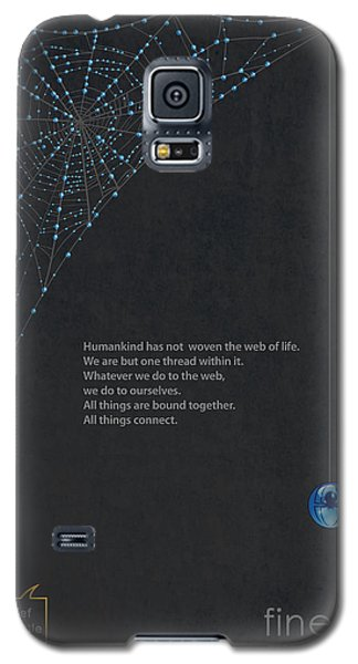 Spider Galaxy S5 Case - Web Of Life by Sassan Filsoof