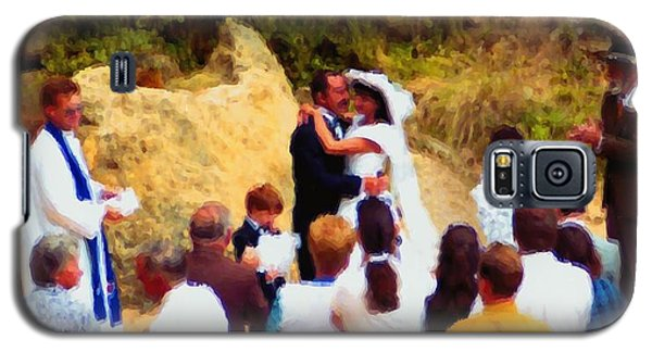 Wedding At Loch Ard Gorge Galaxy S5 Case by Dennis Lundell