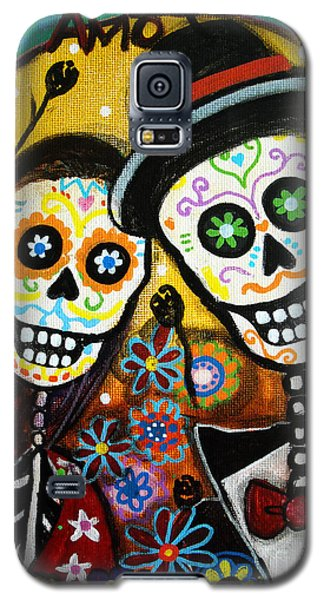 Wedding Dia De Los Muertos Galaxy S5 Case by Pristine Cartera Turkus