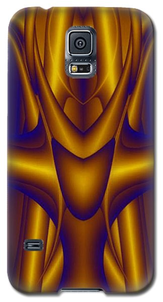 Galaxy S5 Case featuring the painting Weightlifter by Rafael Salazar