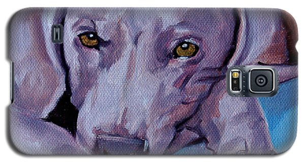 Galaxy S5 Case featuring the painting Weimaraner by Pattie Wall