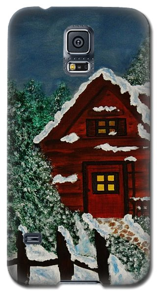 Galaxy S5 Case featuring the painting Welcome Home by Celeste Manning