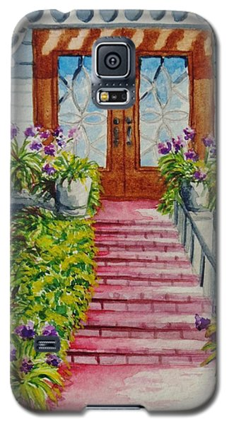 Galaxy S5 Case featuring the painting Welcome by Katherine Young-Beck
