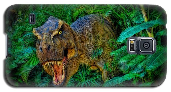 Welcome To My Park Tyrannosaurus Rex Galaxy S5 Case by Olga Hamilton