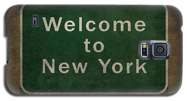 Welcome To New York Highway Road Side Sign Galaxy S5 Case by Bruce Stanfield