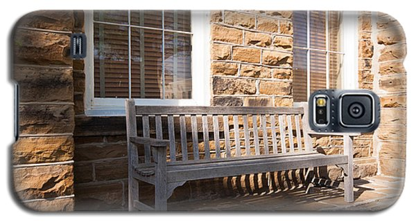 Galaxy S5 Case featuring the photograph Welcoming Bench by Lawrence Burry