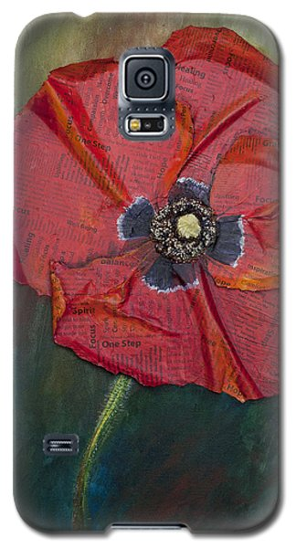 Wellness Poppy Galaxy S5 Case by Lisa Fiedler Jaworski