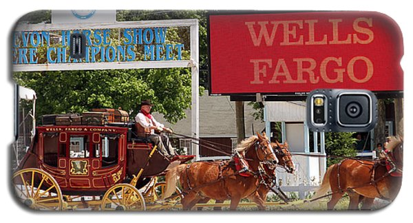 Galaxy S5 Case featuring the photograph Wells Fargo At Devon by Alice Gipson