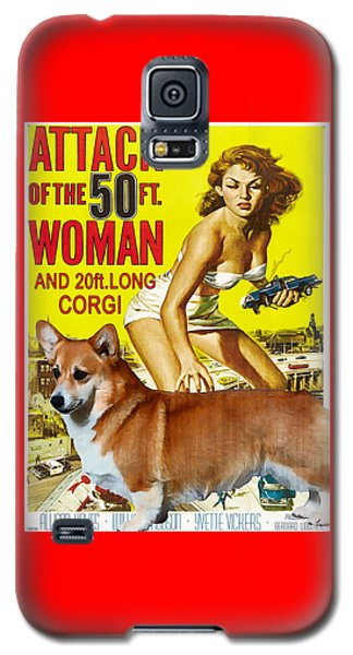 Welsh Corgi Pembroke Art Canvas Print - Attack Of The 50ft Woman Movie Poster Galaxy S5 Case