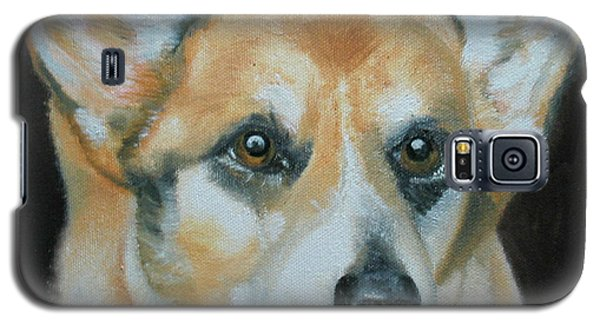 Galaxy S5 Case featuring the painting Welsh Corgi by Thomas J Herring